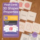 3D Shapes Flash Cards