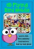 3D Flying bird mobile