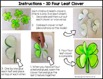 3D Four Leaf Clover - St Patrick's Day Craftivity