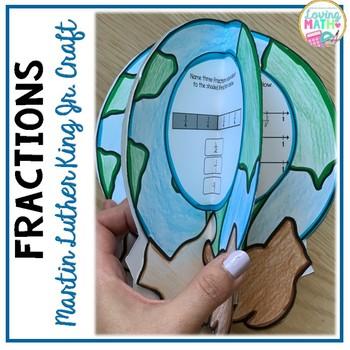 3D Fraction Craft - Martin Luther King Jr.  Math Craft
