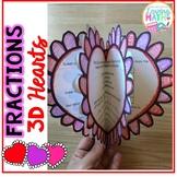 3D Fraction Hearts - A Math Craftivity FREEBIE