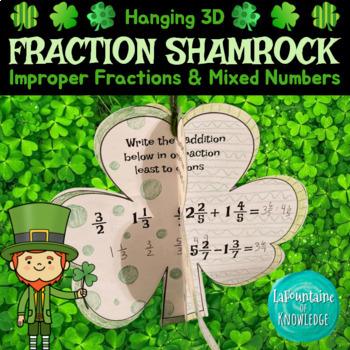 Saint Patrick's Day 3D Fraction Shamrock Craft