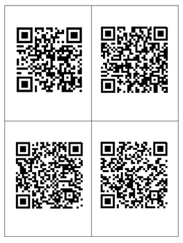 3D Geometric Figures Review cards with QR codes