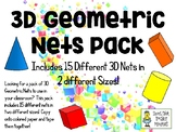 3D Geometric Nets Pack - Set of 15 Nets in Two Sizes