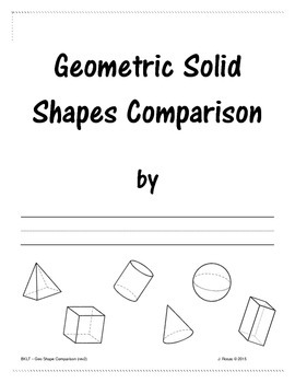 3D Geometric Shape Comparison (full sheet)