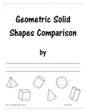 3D Geometric Shape Comparison (full sheet)