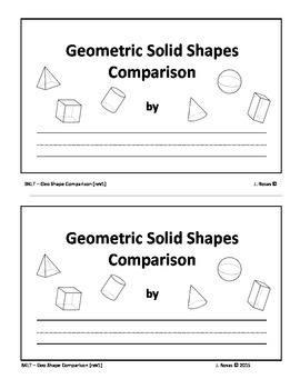 3D Geometric Shape Comparison (half sheet)