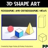 3D Geometric Shapes Art