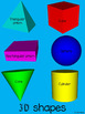3D Geometric Shapes booklet {trace and fill in the blanks} PLUS Bonus Poster