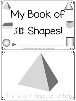 3D Geometric Shapes booklet with classroom bonus poster