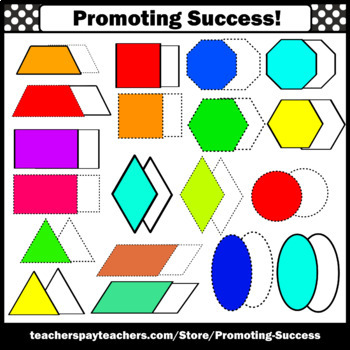2D and 3D Shapes Clip Art, SPS