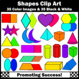 2D and 3D Shape Clip Art, Math Geometric Shapes Clipart, SPS