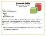 3D, Geometric solid Venn diagram activity