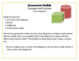3D, Geometric solid Venn diagram activity