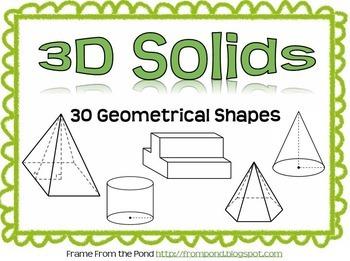 3D Geometrical Solids (Clip Art to Copy/Paste)