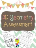 3D Geometry Assessment and Study Guide