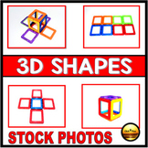 Pictures for teaching HOW TO BUILD 3D SHAPES Math Photos GEOMETRY