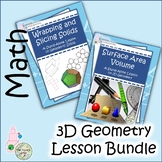 3D Geometry Lesson Bundle: Geometric Solids, Shapes, Surface Area and Volume