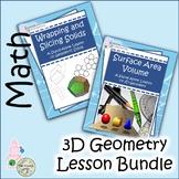 3D Geometry Lesson Bundle: Geometric Solids, Shapes, Surfa