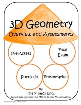 Project-Driven Middle School Math Unit: 3D Geometry 7.G.A.