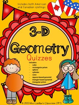 3D Geometry Quizzes - Differentiated Assessment - Mathematics