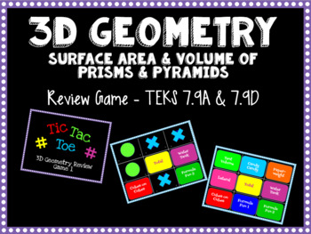 3D Geometry Review Game