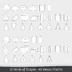 3D Geometry Solid Shapes Clip Art Pack – Commercial
