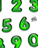 3D Green Leaves Digits / Numbers ( images )
