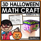 3D Halloween Math Craft Addition to 10