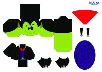 3D Halloween Model Templates