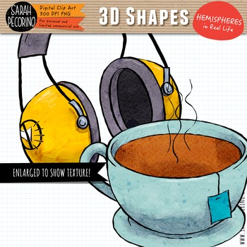 3D Hemispheres in Real Life Clip Art