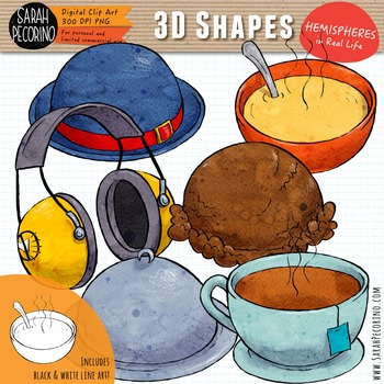 3D Hemispheres in Real Life Clip Art