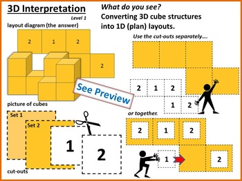 level 1 3d interpretation converting 3d cube structures into 1d nets