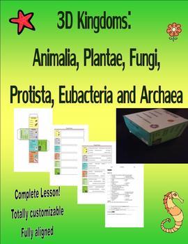 3D Kingdoms: Animalia, Plantae, Fungi, Protista, Eubacteria and Archaea