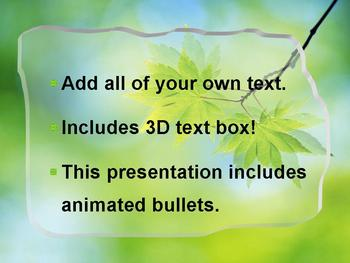 3D LEAVES POWERPOINT ADD-YOUR-OWN-TEXT TEMPLATE
