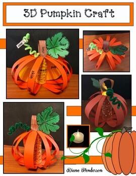 """3D """"Label a Pumpkin"""" Craft"""