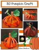 """Pumpkin Activities: 3D """"Label a Pumpkin"""" Craft"""