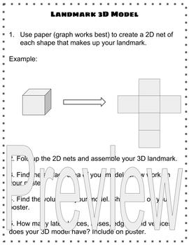 3D Landmark Geometry Project