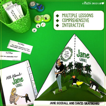 3D Learning with the Famous (Jane Goodall Reading Comprehension & Vocabulary)