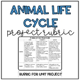 3D Life Cycles Rubric