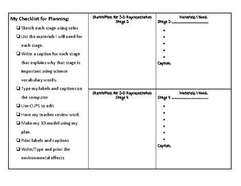 3D Life Cycles Unit Student Sheet