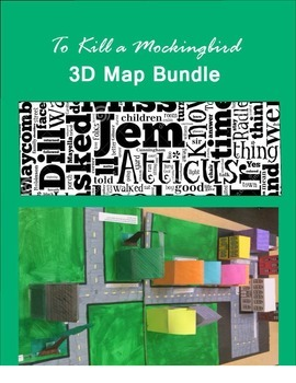 3D Map of Maycomb Assignment Bundle for To Kill a Mockingbird