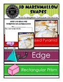 3D Marshmallow Toothpick Shapes with Curriculum Connection &WordWall Cards (pdf)