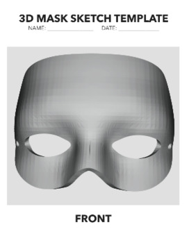 3D Mask Template By Amie Le Blanc