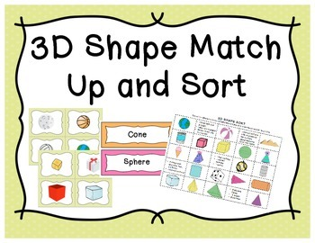 3D Match Up and Sort