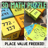 3D Math Puzzle - Review Place Value