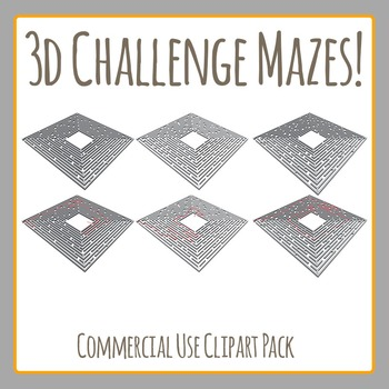 3D Maze Challenge! - Commercial Use Clip Art Set