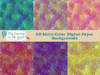 3D Multi-Color Digital Paper Backgrounds