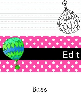 3D Name Tags with Hot Air Balloons