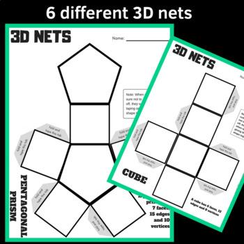 3D Net Shapes Math